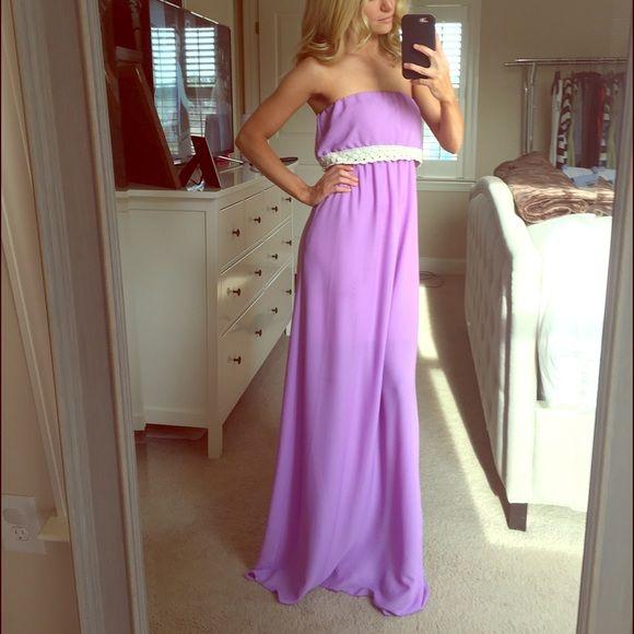 Lavendar maxi dress Lavendar maxi dress. Perfect for spring! Dresses Maxi