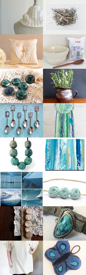 Blue Reflections by Miriam Ollis on Etsy--Pinned with TreasuryPin.com