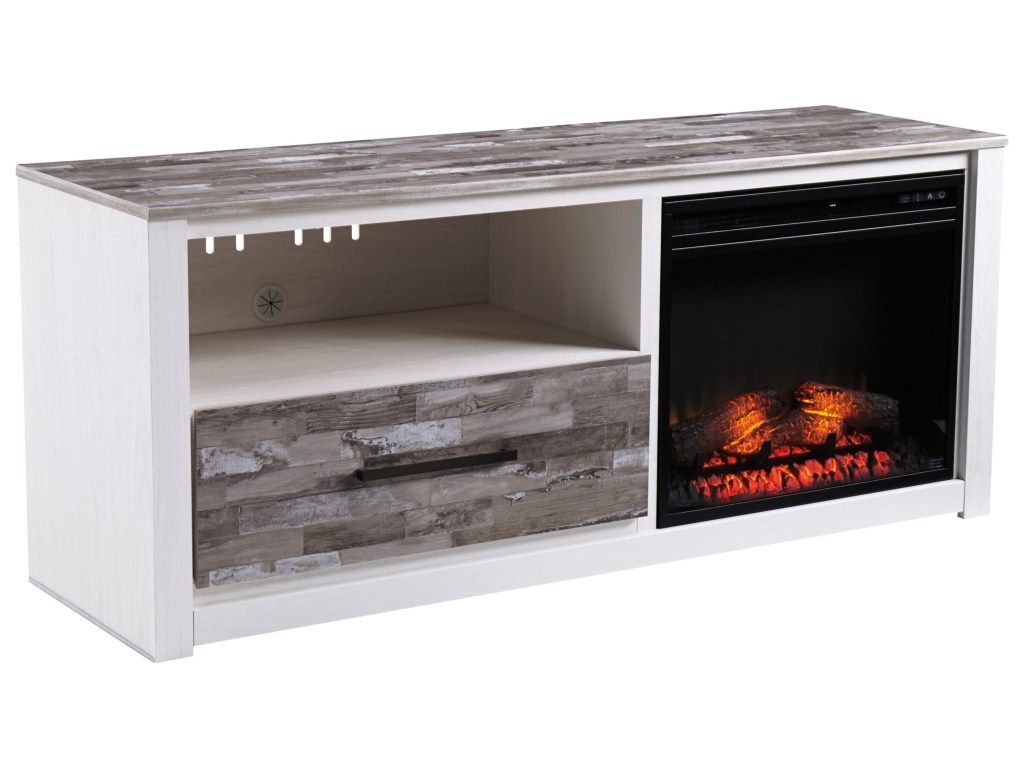 Signature Design By Ashley Evannilarge Tv Stand Fireplace Tv