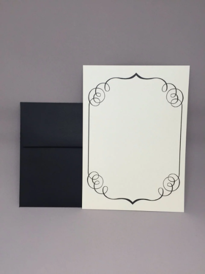 Fancy Black Border Do It Yourself Invite Designed To Run Through Your Home Printer As Long As Your Printer Can Take Invitations Invitation Set Home Printers