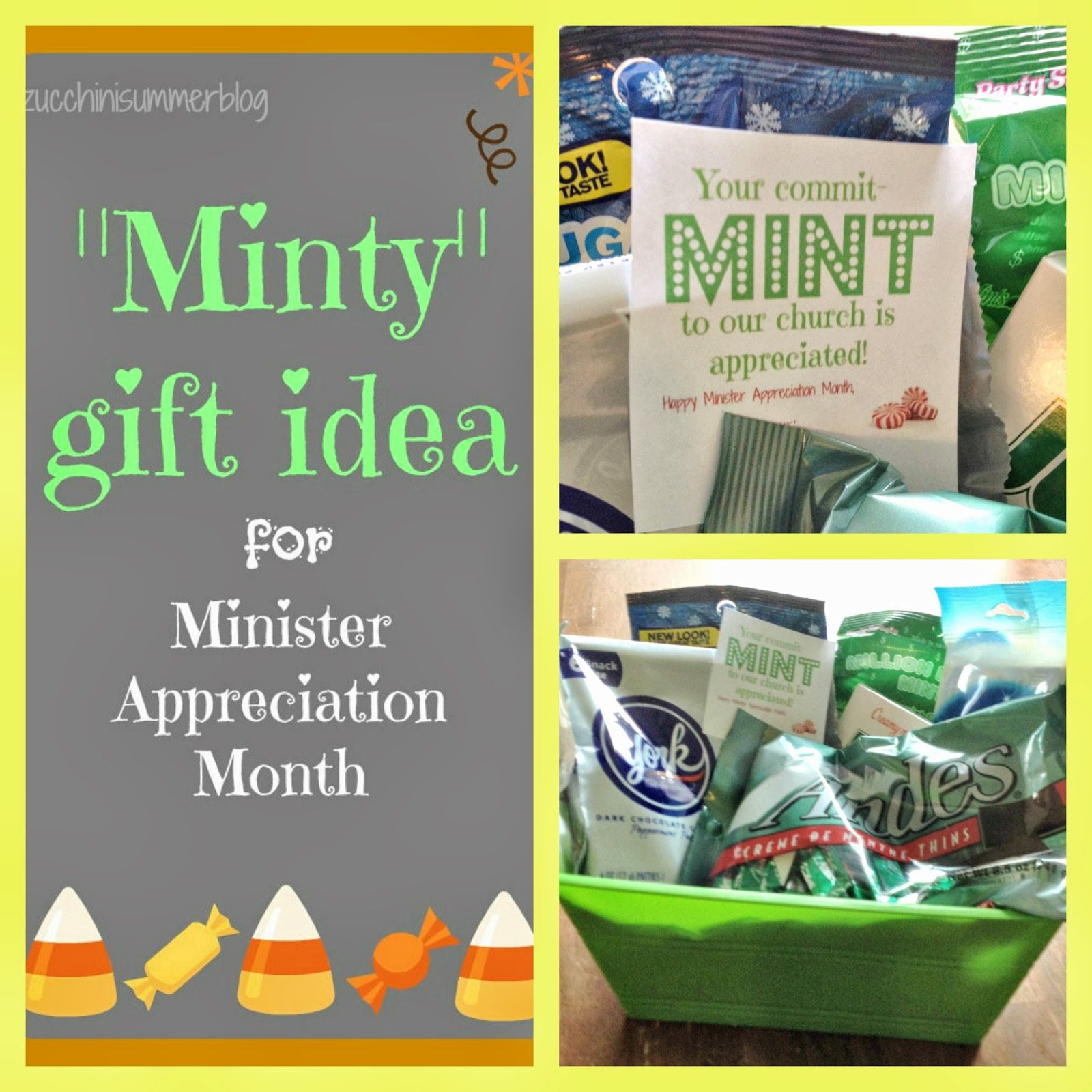 Commitmint to church minister appreciation gift