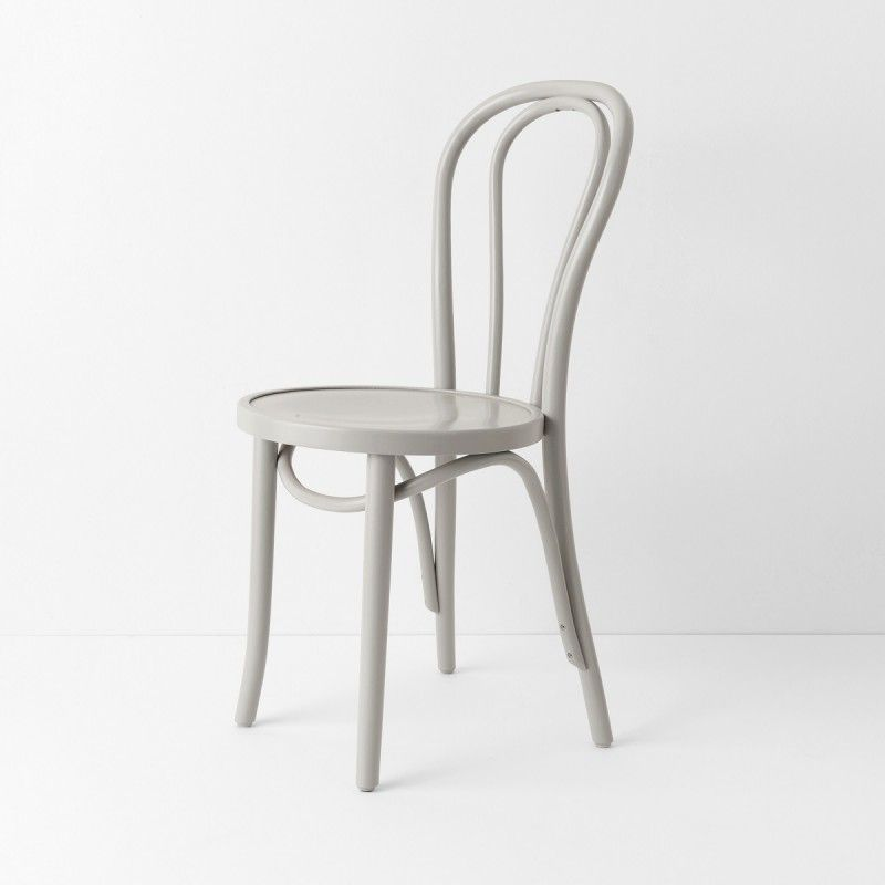 Chaise bistrot N°18 gris lichen
