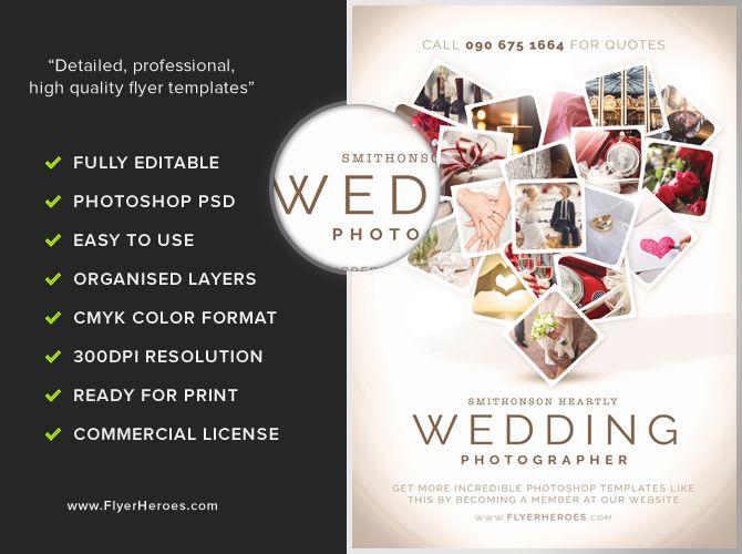 WeddingPhotographerFlyerTemplatejpg - Wedding brochure template