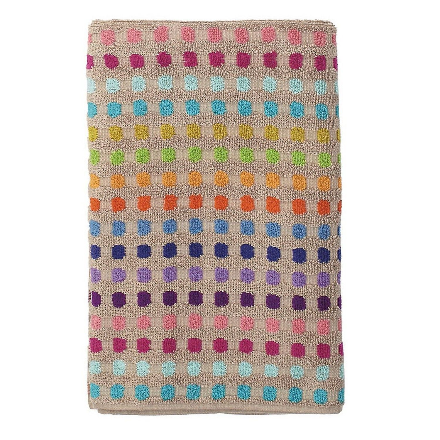 Vibrantly Colored Bath Towel Loomed In Portugal Of Soft Absorbent