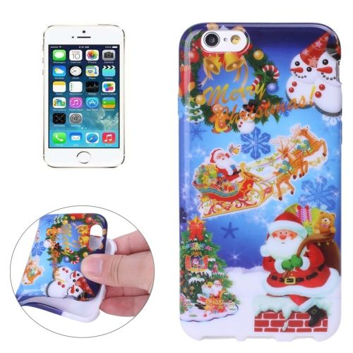 [$1.30] Merry Christmas Santa Claus Snowman Pattern TPU Protective Case for iPhone 5 & 5s