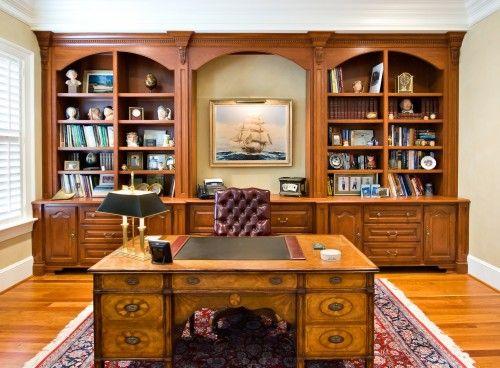 Cherry Office Traditional Home Office Escritorios De Oficina En