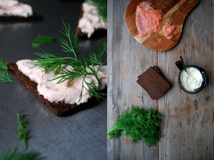 Smoked Salmon Dip with Horseradish and Dill on Pumpernickel : eat in my kitchen