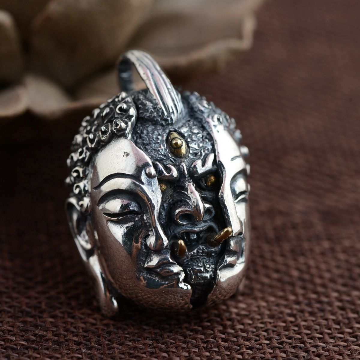 Between the deer king jewelry wholesale s925 sterling silver pendant between the deer king jewelry wholesale s925 sterling silver pendant silver antique crafts a new personality aloadofball Images