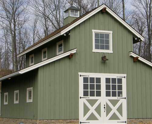 Love The Colors And Style Of This Barn Barn Style House Plans Barn Style House Pole Barn Homes
