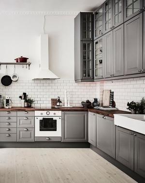 Kitchen  Grey Cabinets  Subway Tilesdelia  Kitchen Captivating Kitchens With Grey Cabinets Design Inspiration