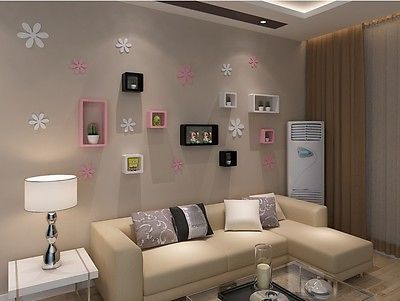 3D-stereo-TV-background-wall-decoration-attached-removable-petal-stickers