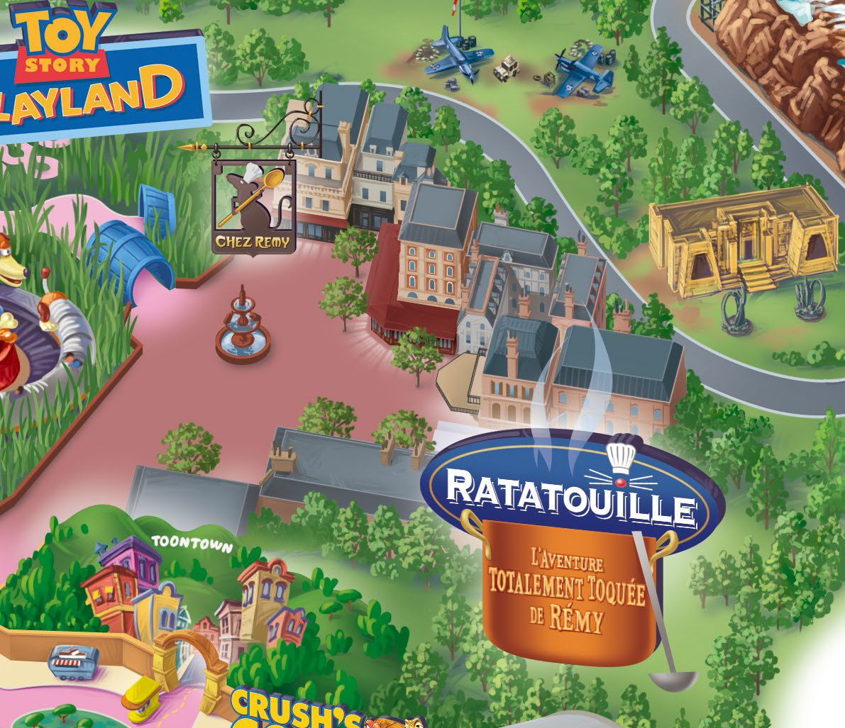 Dedicated to DLP – Celebrating Disneyland Paris Disneyland Paris News Resort Map Now Include Ratatouille