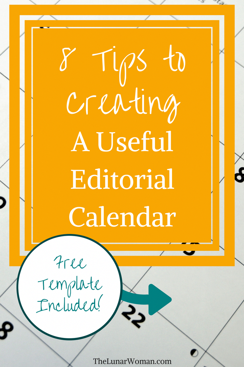 How to create an editorial calendar - free template to download plus ...