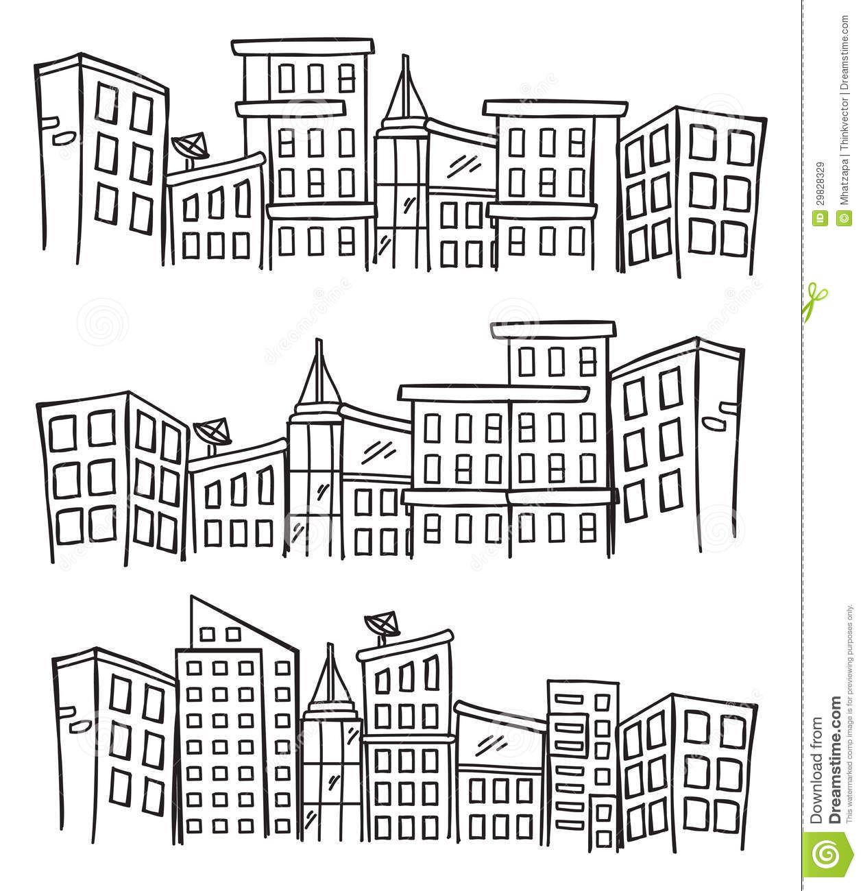 Gallery For Simple Cityscape Drawing Avec Images