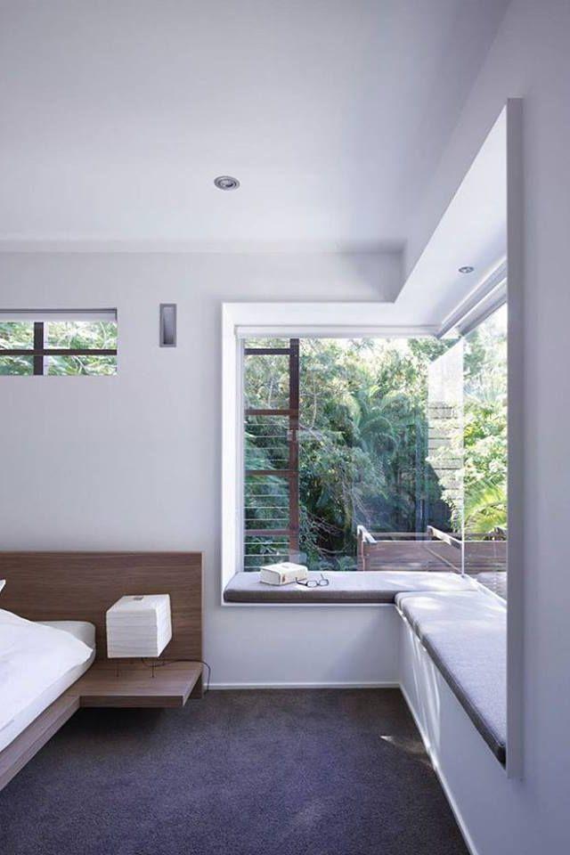Eckfenster mit Fensterbank - minimalistisch | Haus in 2018 ...
