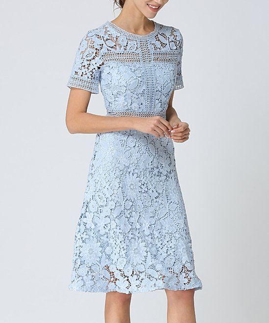 Take A Look At This Light Blue Lace Midi Dress Women Today