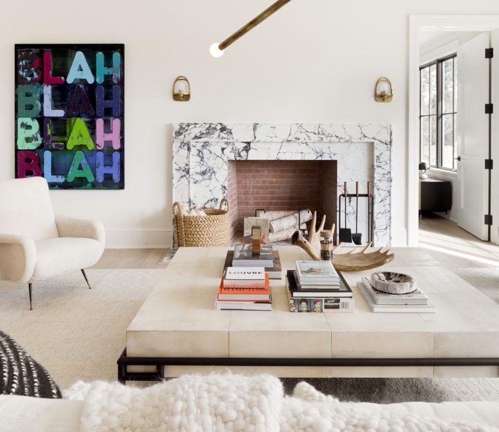 Modern Hamptons Living by Tamara Magel, belle vivir | Fireplaces ...