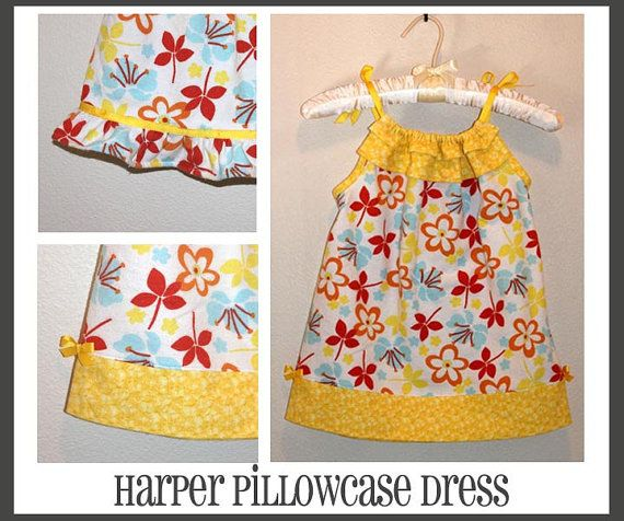INSTANT DOWNLOAD Harper Pillowcase Style Dress PDF Sewing Pattern By Hadley Grace Designs - Includes Sizes