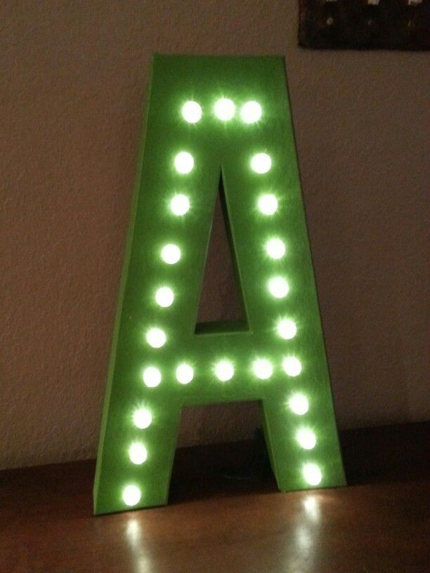 Marquee Light Cardboard Letter From Hobby Lobby Lights Are