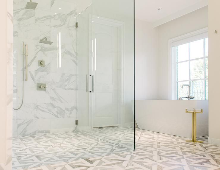 Carrara Marble Tile Bathroom