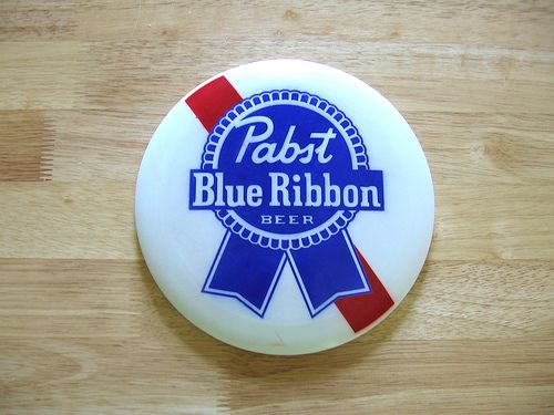 New Pabst Blue Ribbon PBR Beer Frisbee Disc White