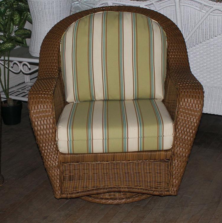 Winward Outdoor Wicker Swivel Glider Rocker All About Wicker   Wicker  Furniture And Replacement Cushions