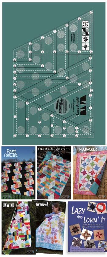 Creative Grids Non-Slip Lazy Angle Ruler   quilt patterns and ... : creative grid rulers for quilting - Adamdwight.com