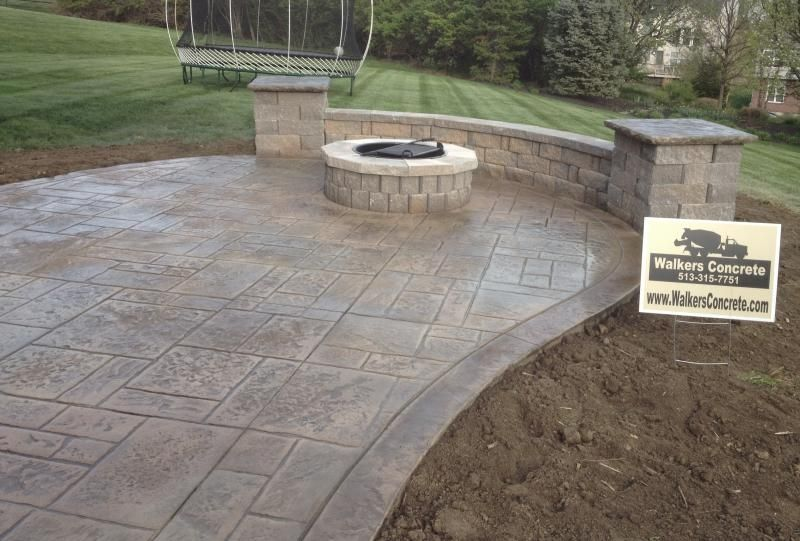 stamped concrete patio cincinnati ohio stamped concrete