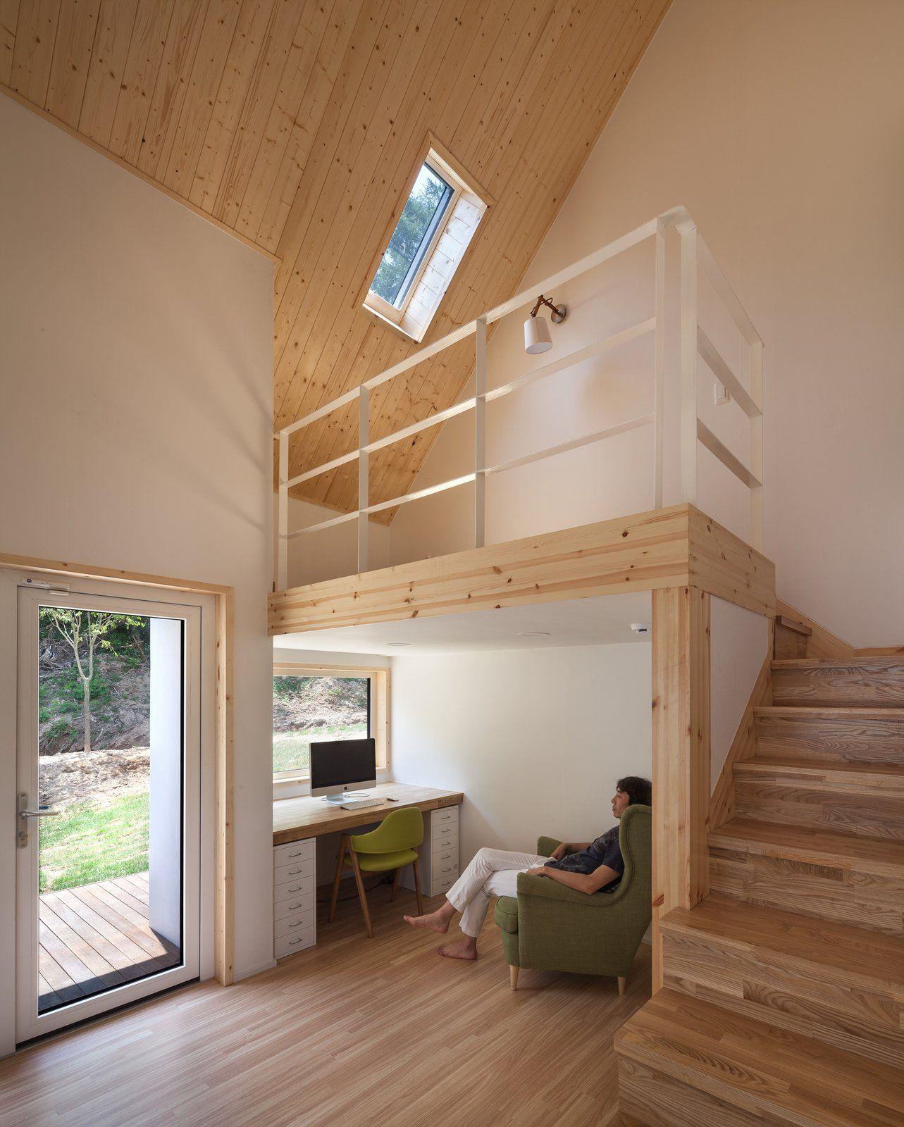 Photo 5 Of 14 In Nature Engulfs This South Korean House Nestled Into Wood Floor Design Floor Design House #raised #platform #living #room