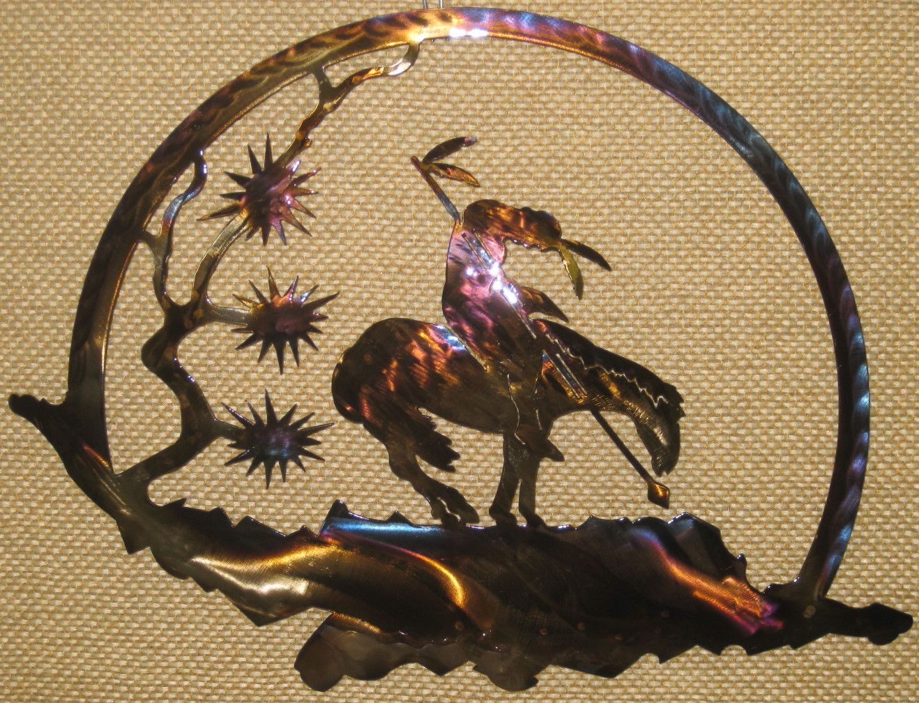 Southwest Metal Wall Art. Trails - Round. Each piece is hand-crafted ...
