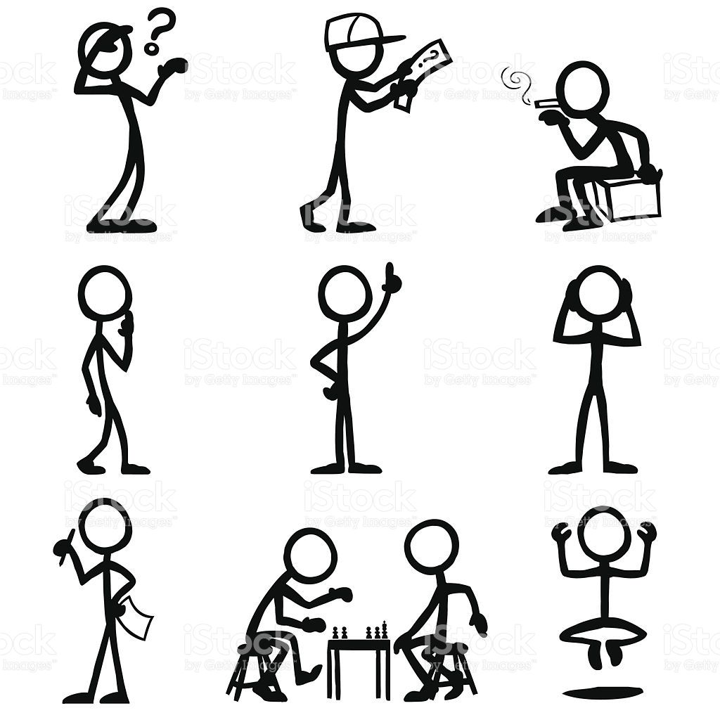 Stick Figure People Thought Vector Id