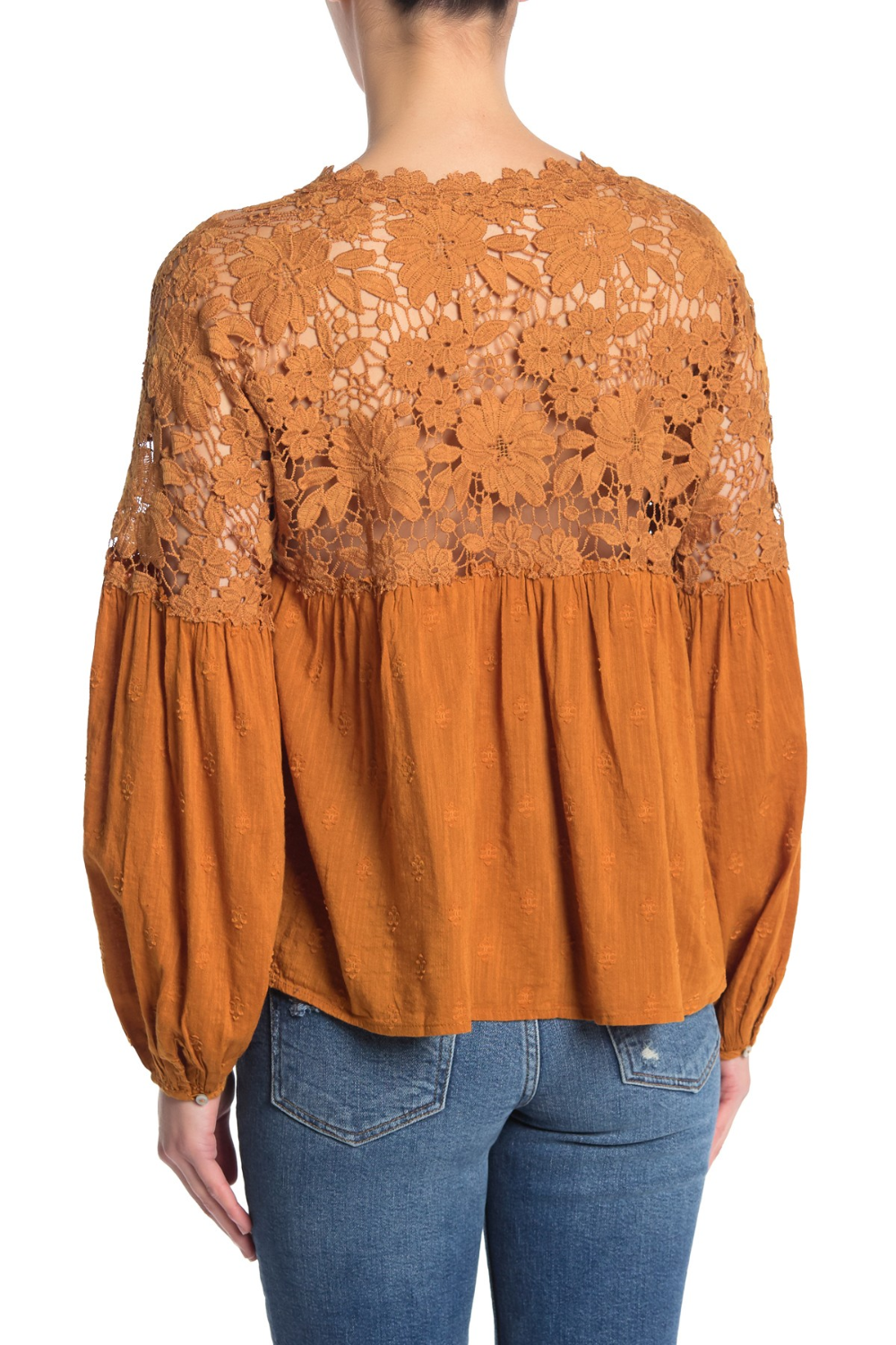 Free People Lina Lace V Neck Top In 2020 Tops V Neck Tops