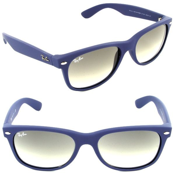 ray ban rb 2132 811 32 new wayfarer blue rubber crystal gray g rh pinterest com