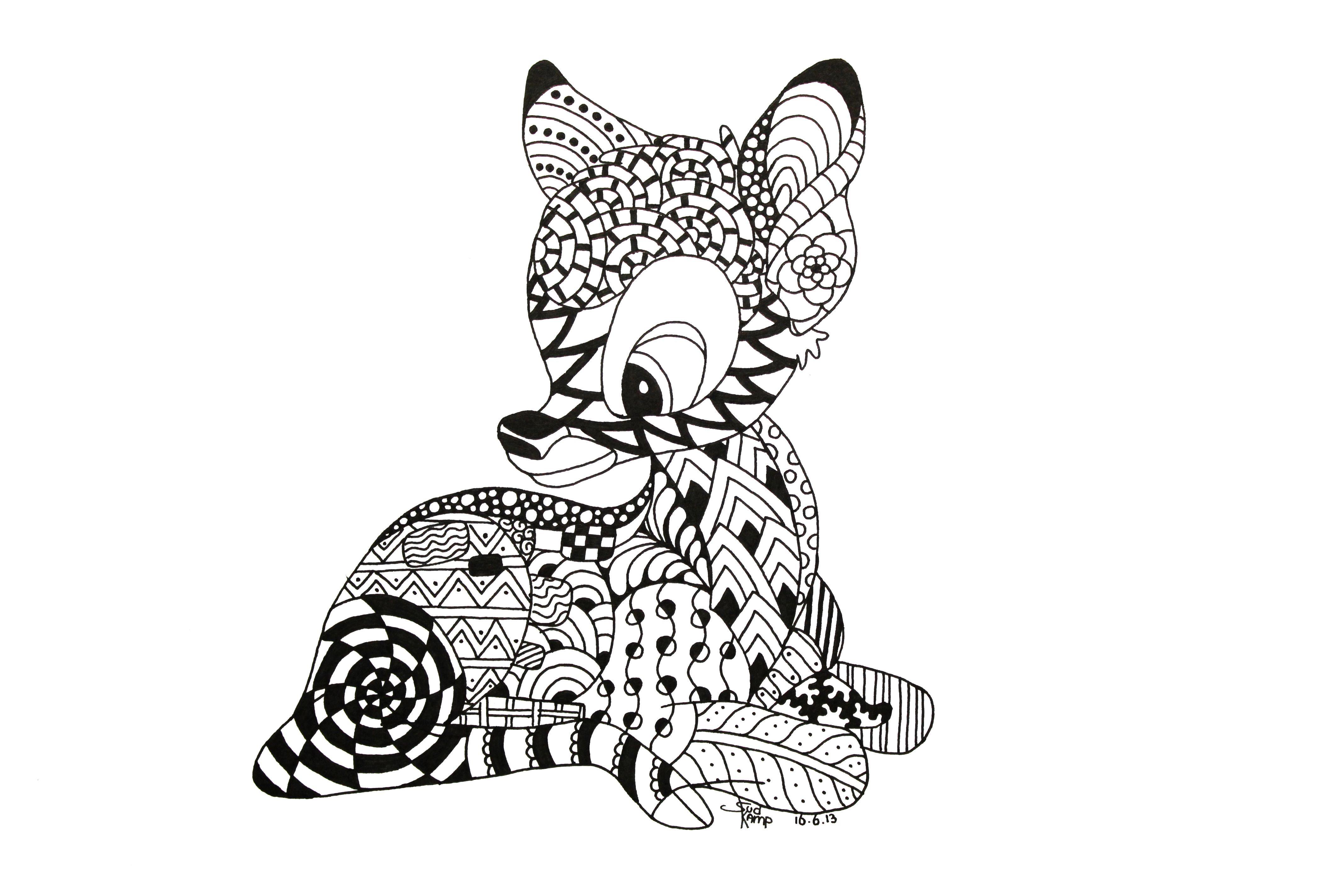 Bambi Zentangle by NeverDoubtILove on deviantART  Zentangle