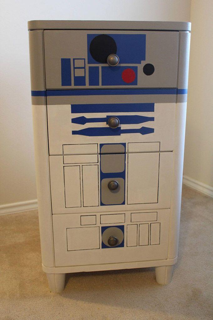 Awesome R2D2 Dresser | DIY | Gear · Diy DressersStar Wars BedroomKid ...