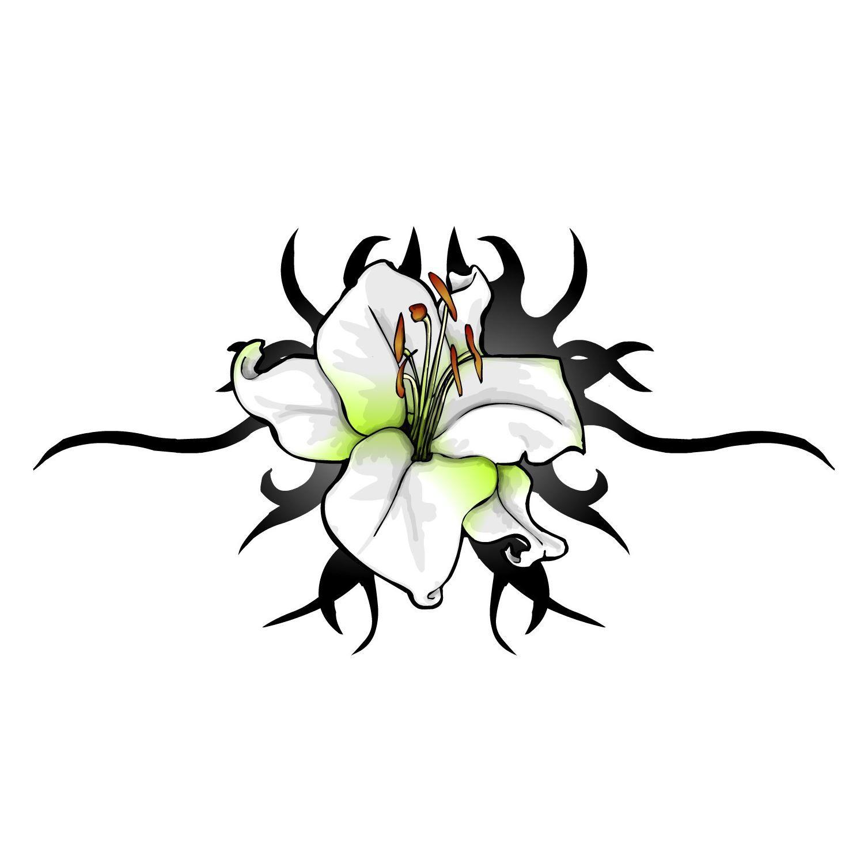 Tribal Flower Tattoos For Women Tattoo Flower Designs Lily Flowers