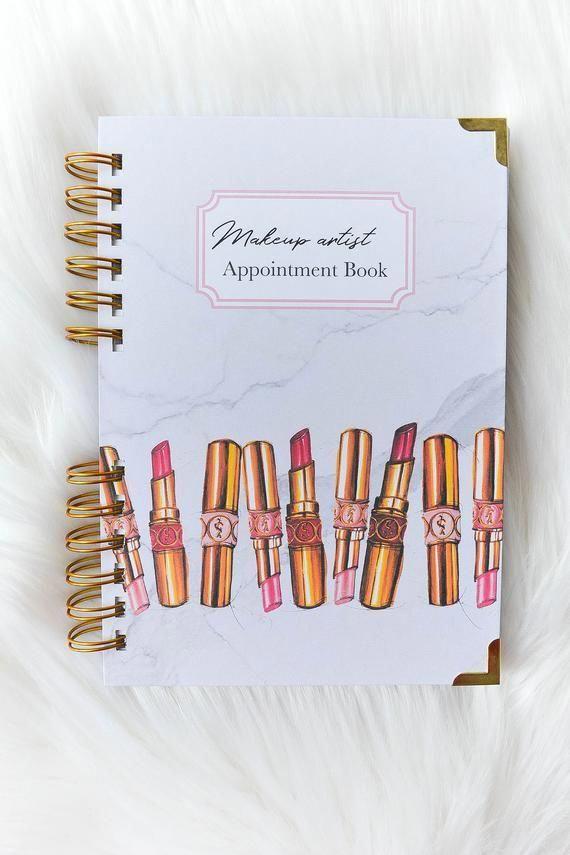 Makeup Artist Appointment Book, Facechart for makeup
