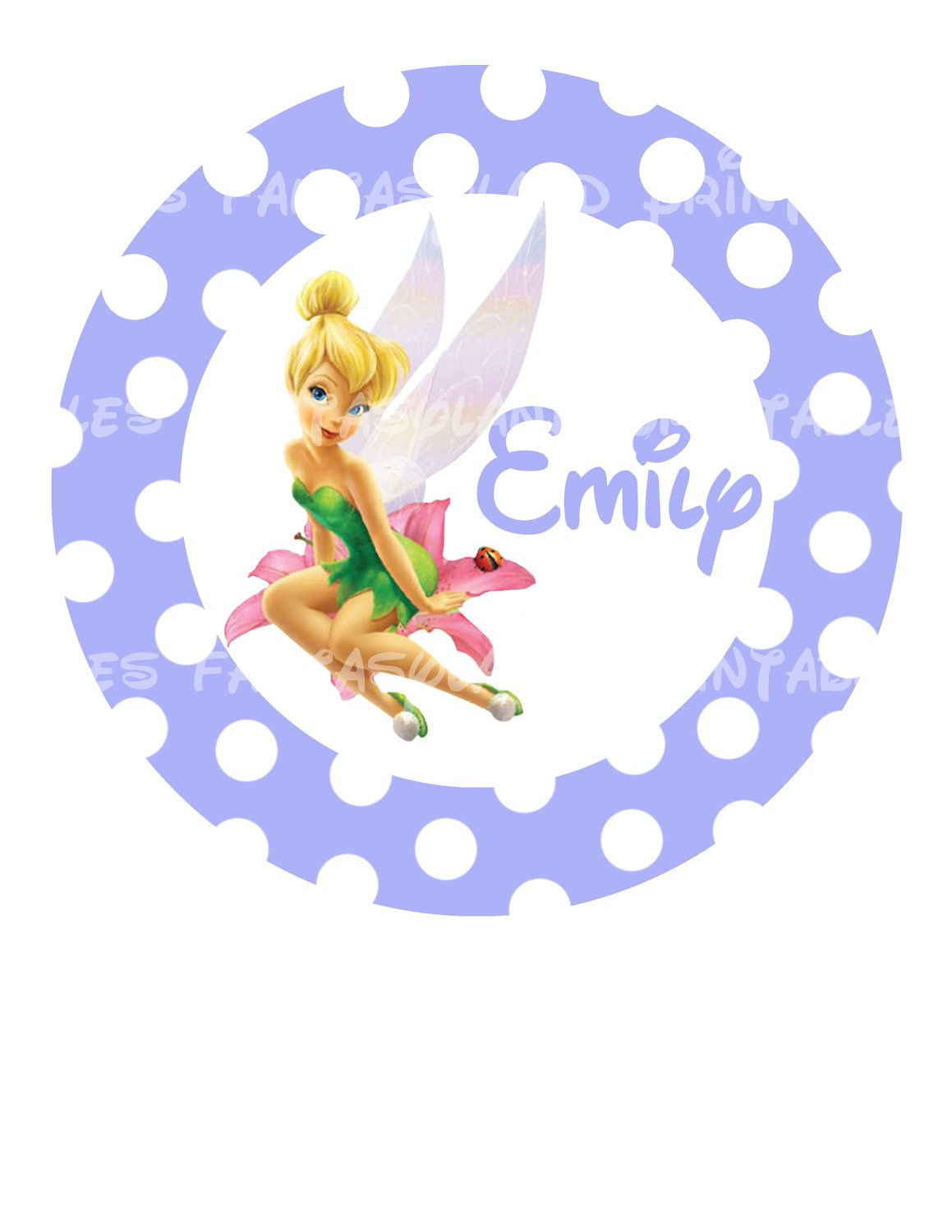 Tinkerbell Circle Your Name Personalized Diy Printable Iron Transfer