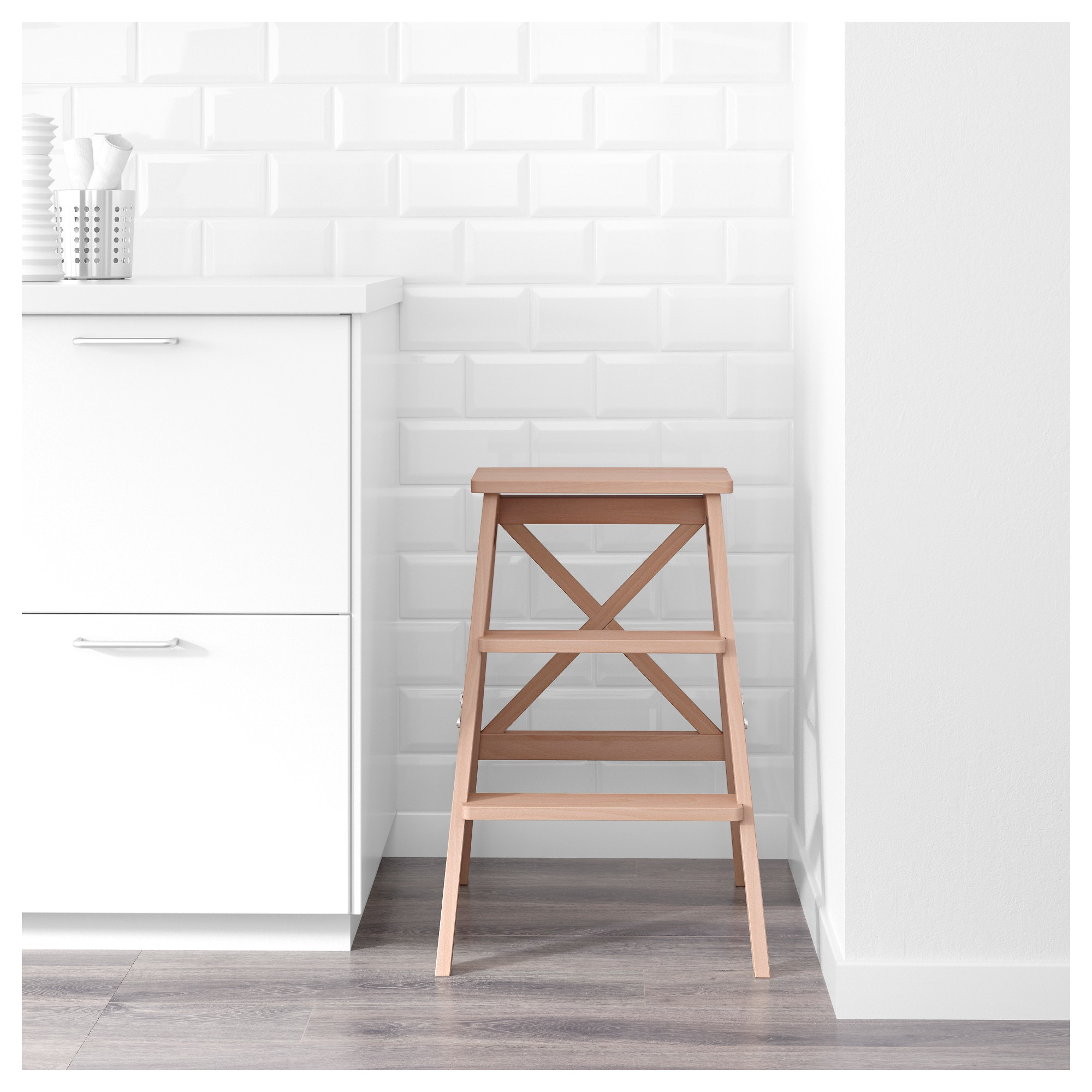 Ikea Bekvam Beech Stepladder 3 Steps Ikea Kitchen Step