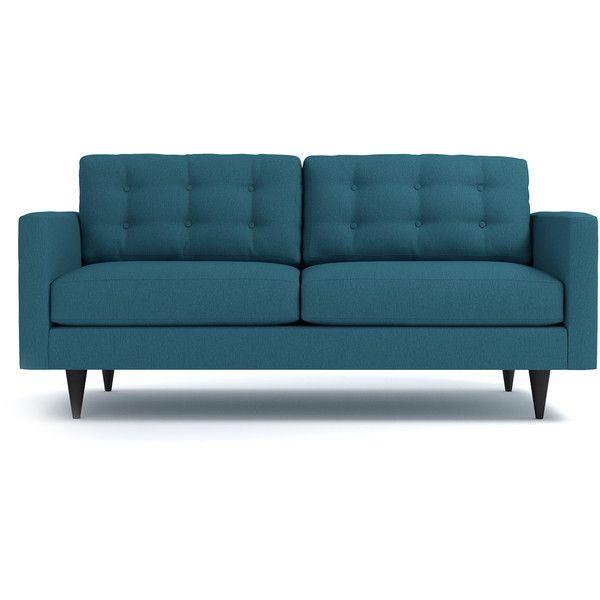Modern Apt2B Logan Biloxi Blue Sofa $1 188 ❤ liked on Polyvore featuring home furniture In 2018 - Fresh apartment size sofa Idea