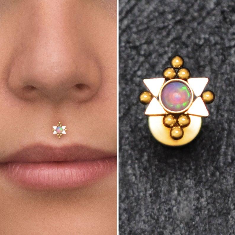 Surgical Steel Flat Back Stud Lip Labret Earring Medusa Etsy Medusa Piercing Jewelry Lip Jewelry Medusa Piercing
