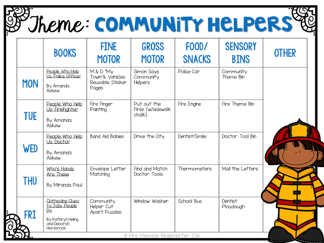 Tons of Community Helper themed ideas perfect for Tot ...