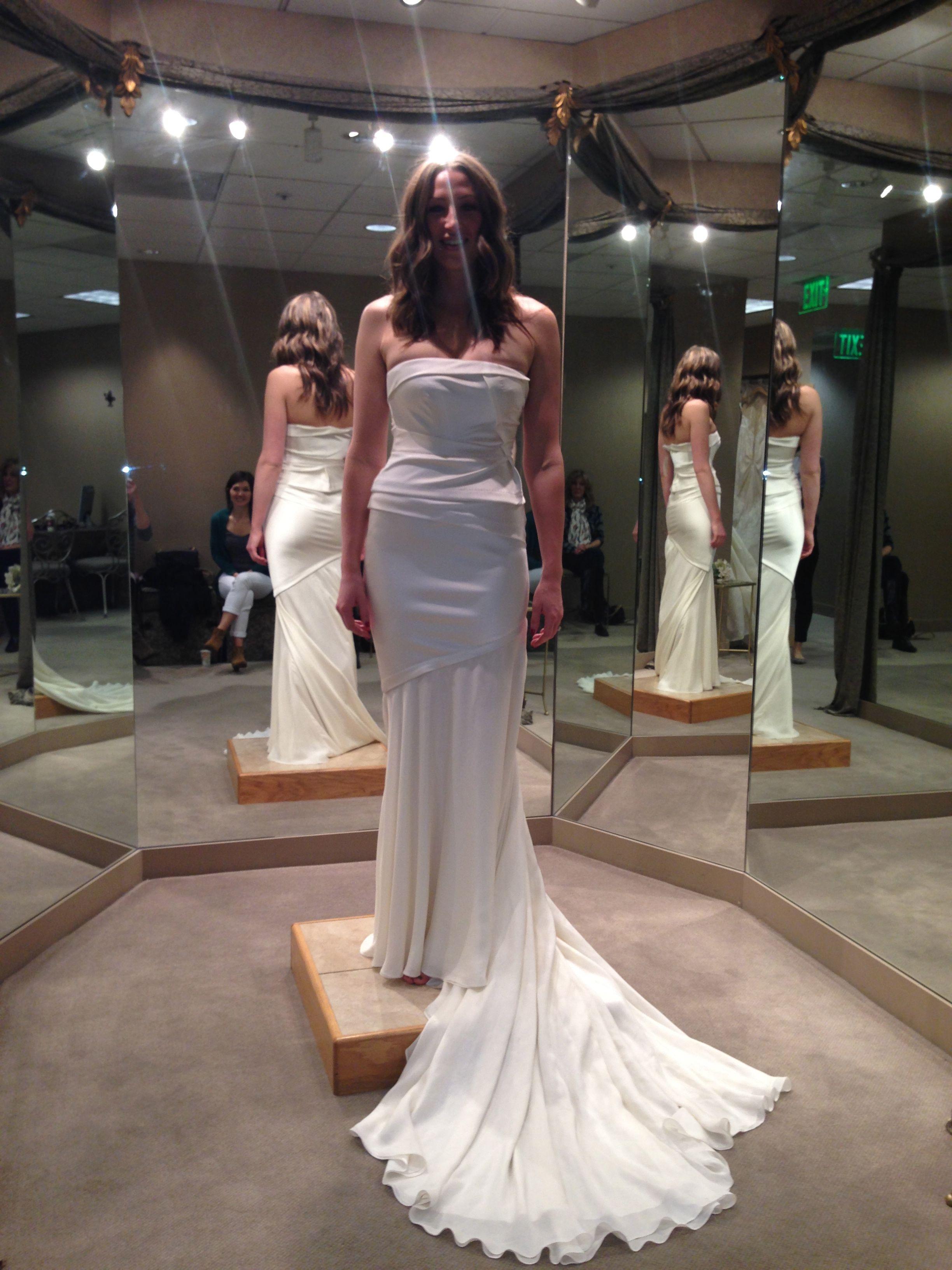 Runner up, fabulous structured wedding dress