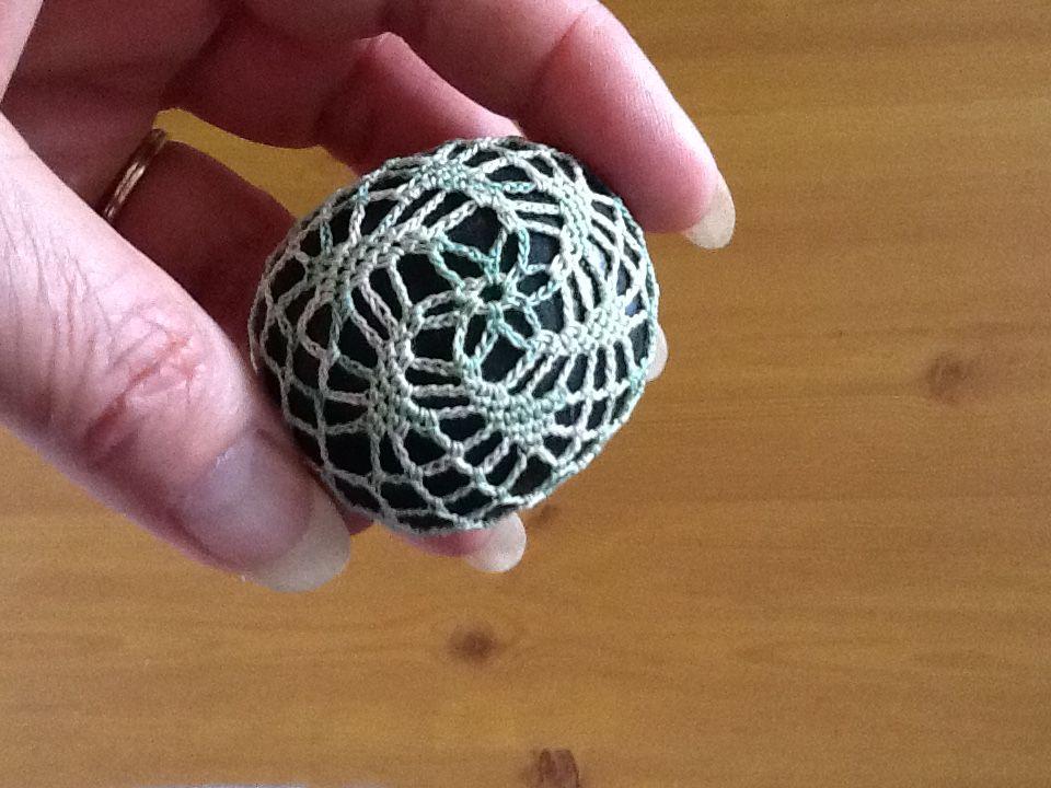 Crochet river rock