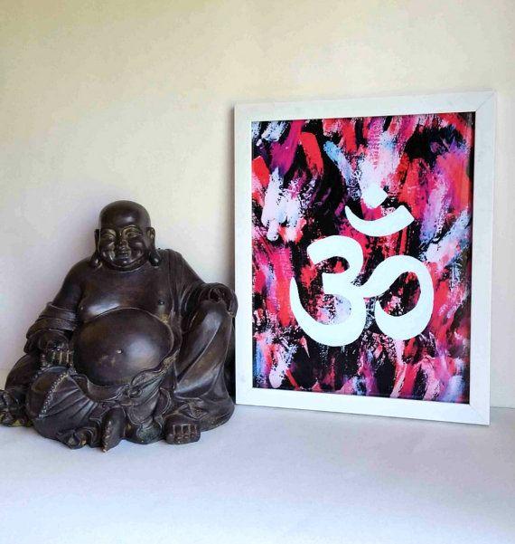 Indian Hindu Om Or Ohm Symbol 85 X 11 Inch Art By Starrjoy16