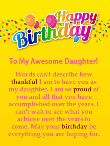 I Am Thankful Happy Birthday Card For Daughter Birthday Greeting Cards By Davia Happy Birthday Daughter Birthday Wishes For Daughter Wishes For Daughter