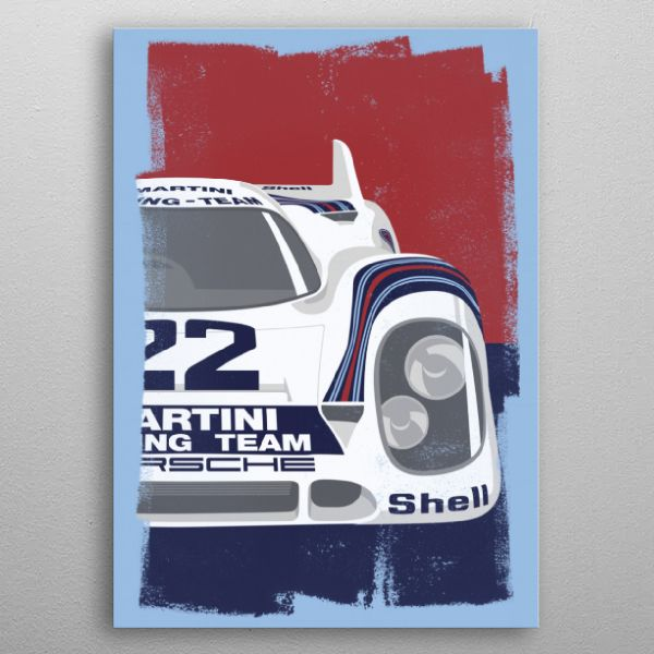 Porsche 917K Retro Print Say goodbye to paper posters and welcome our 21st century wall art canvas