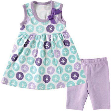 Hudson Newborn Baby Girls Dress And Leggings Choose Your Color