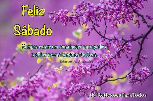 Feliz Sabado Bom Dia Clique Na Imagem E Encontre Lindas: #FelizSabado #BomDia #mensagem De #reflexao