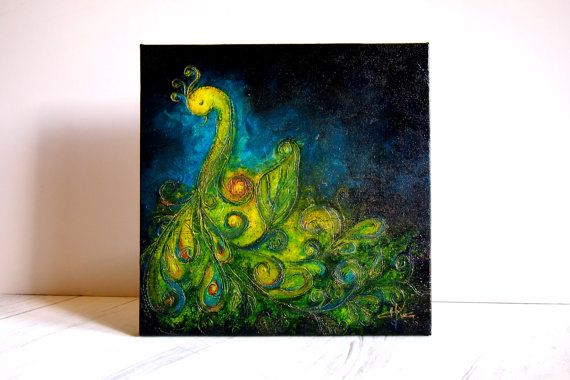 Serenity  Origninal Texture Acrylic Painting on Linen by ChingTeoh,